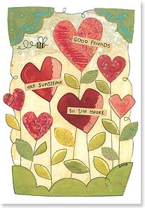 Friendship Card - I'm so glad that you're my friend. | Karen Hillard Good | 18766 | Leanin' Tree
