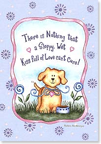 Get Well Card - Hopefully the thought will make you smile.  Feel Better | Barbara Ann Kenney | 18777 | Leanin' Tree