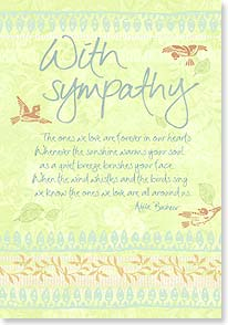 Sympathy Card - Thinking of you and wishing you peace. | Intrinsic by Design® | 18779 | Leanin' Tree