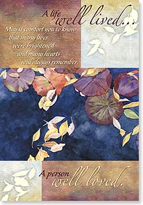 Sympathy Card - A Life Well Lived | Lynnea Washburn | 18780 | Leanin' Tree