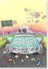 Wedding Card - Just Married 4-ever | Beth Logan | 18784 | Leanin' Tree