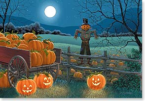 Halloween Card - Full Moon at the Pumpkin Patch - 18812 | Leanin' Tree