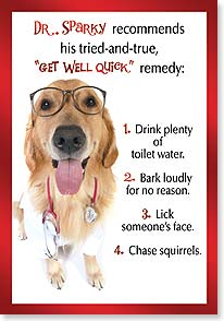 Get Well Card - Follow the doctor's orders and FEEL BETTER SOON! | Kimball Stock | 18936 | Leanin' Tree