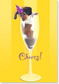 Birthday Card - Yappy Birthday Cheers! | Kim Crisler | 18970 | Leanin' Tree