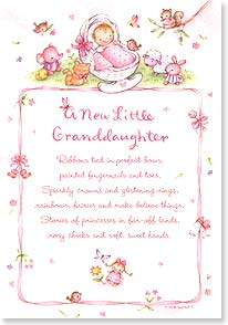 New Grandchild Congratulations Card - New Little Granddaughter | Tina Wenke | 18988 | Leanin' Tree