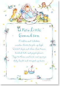 New Grandchild Congratulations Card - Fireflies and Lullabies | Tina Wenke | 18989 | Leanin' Tree