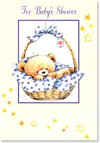 Baby Shower Card - Arriving soon will be a beautiful treasure. Congratulations | Makiko | 18990 | Leanin' Tree