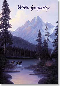 Sympathy Card - May your find comfort in the hands of the Great Spirit. | Gene Speck | 19561 | Leanin' Tree