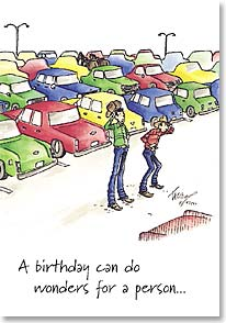 Birthday Card - Funny | A Birthday Can Do Wonders | Daryl Talbot | 19586 | Leanin' Tree