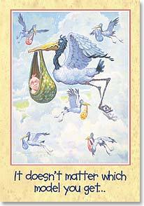 Baby Congratulations Card - ...They all leak. Congratulations on Your New Baby | Mike Scovel | 19694 | Leanin' Tree