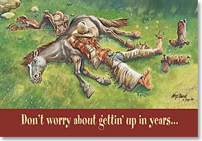 Birthday Card - Funny | Don't Worry About Your Birthday | Nate Owens | 19942 | Leanin' Tree