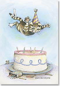Birthday Card - Birthdays are not the time to show restraint. | Gary Patterson | 19974 | Leanin' Tree
