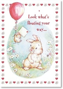 Valentine's Day Card - For Somebunny Very Special: Psalm 85:12 | Michael Abrams | 1_2000157-P | Leanin' Tree