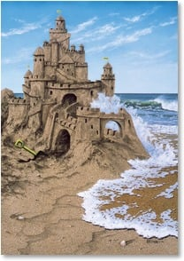 Friendship Card - Castles in the Sand | Jacquelynn Kresman | 1_2000203-P | Leanin' Tree