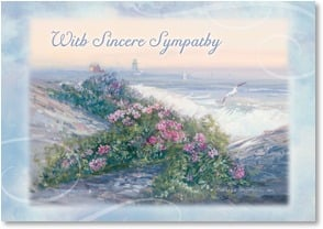 Sympathy Card - My Thoughts Are With You; Psalm 55:22 - 1_2000262-P | Leanin' Tree