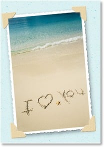 Anniversary Card - Writing it in the sand is one thing...It's in my heart. | Getty Images | 1_2000303-P | Leanin' Tree