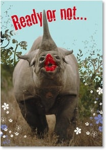 Valentine's Day Card - Here comes your Valentine's Day kiss! - 1_2000659-P | Leanin' Tree