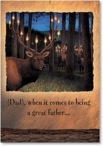 Father's Day Card - Dad, no one can hold a candle to you! | Monte Dolack | 1_2000683-P | Leanin' Tree
