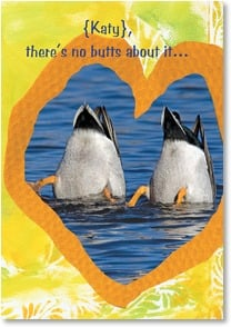 Anniversary Card - I'm Head over Tail in Love! | Lisa and Mike Husar | 1_2000689-P | Leanin' Tree