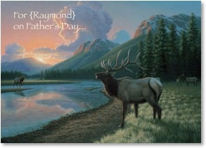 Father's Day Card - Sending wishes for a magnificent day! | Richard Burns | 1_2000692-P | Leanin' Tree