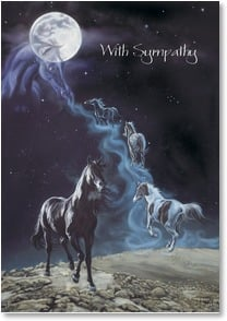 Sympathy Card for Horse - The Loss of Your Dear Companion | Kim McElroy | 1_2000834-P | Leanin' Tree