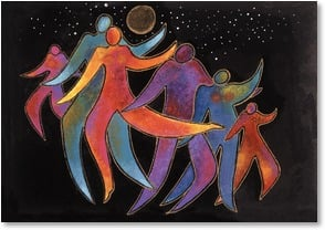Celebrate Card - Dance! Play! Laugh! Celebrate! | Laurel Burch™ | 1_2001167-P | Leanin' Tree