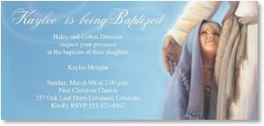 Baptism Card - 'Under His Wing' | Jay Bryant Ward | 1_2001187-P | Leanin' Tree