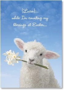 Easter Card - Counting ewe twice! Ephesians 1:16 | Wild-Side Brands Ltd | 1_2001344-P | Leanin' Tree