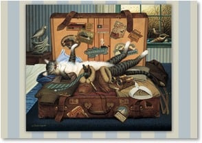 Goodbye Card - Bon Voyage; Mabel the Stowaway | Charles Wysocki | 1_2001356-P | Leanin' Tree