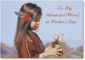 Mother's Day Card - I wish hugs were like flowers - 1_2001461-P | Leanin' Tree