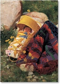 Blank Card - Native American Baby in Papoose | Don Crowley | 1_2001472-P | Leanin' Tree