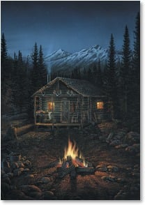 Blank Card - Warm fires and camp | Sam Timm | 1_2001521-P | Leanin' Tree