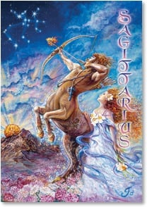 Anytime Wish for You Card - May the Stars Align Today: Sagittarius | Josephine Wall | 1_2001592-P | Leanin' Tree