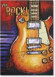 Congratulations Card - You Rock! And you'll keep on rockin'! | Bruce Langton | 1_2001620-P | Leanin' Tree
