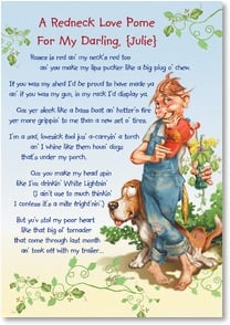 Valentine's Day Card - A Redneck Love Pome | Nate Owens | 1_2001653-P | Leanin' Tree