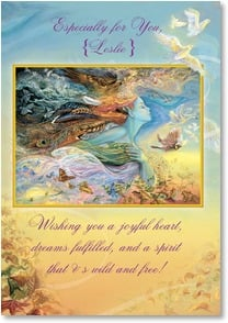 Celebrate Card - Wishes...and a spirit wild & free. | Josephine Wall | 1_2001725-P | Leanin' Tree