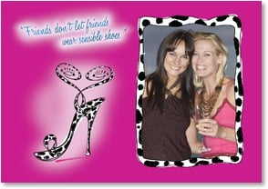 Friendship Card - Don't Wear Sensible Shoes - 1_2001759-P | Leanin' Tree