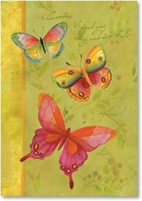 Blank Card with Quote / Saying - Dancing Butterflies | Sue Zipkin | 1_2001809-P | Leanin' Tree