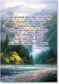 Encouragement & Support Card - God, Grant me the Serenity | Charles H. Pabst | 1_2001813-P | Leanin' Tree