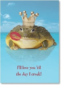 Anniversary Card - I'll love you 'til the day I croak! | Fotosearch | 1_2001843-P | Leanin' Tree