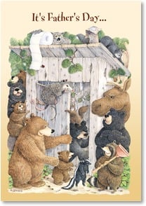 Father's Day Card - And you're drawing a BIG crowd! | Jeffrey Severn | 1_2001924-P | Leanin' Tree