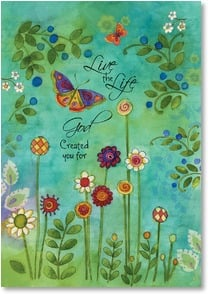 Blank Card with Scripture / Prayer - Life the Life; Jeremiah 29:11 | Sue Zipkin | 1_2001962-P | Leanin' Tree