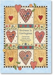Mother's Day Card - Generous hands are blessed hands; Proverbs 22:9 | Ellen Stouffer | 1_2001980-P | Leanin' Tree