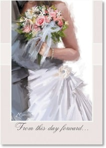 Wedding Card - May you share a forever of happiness and love; Romans 12:12 | Richard Macneil | 1_2002014-P | Leanin' Tree
