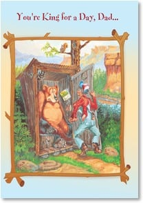Birthday Card - Don't let anyone steal your throne! | Boots Reynolds | 1_2002206-P | Leanin' Tree