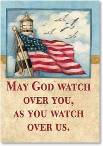 Blank Card with Quote / Saying - May God watch over you | Susan Winget | 1_2002339-P | Leanin' Tree