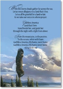 Veterans Day Card - May God bless you  | Al Agnew | 1_2002451-P | Leanin' Tree