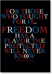 Veterans Day Card - The taste of freedom | LT Studio | 1_2002453-P | Leanin' Tree
