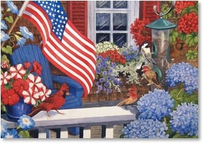 Independence Day Card - A 4th of July Blooming with Pride | Nancy Wernersbach | 1_2002498-P | Leanin' Tree