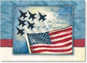 Veterans Day Card - Here's a toast to the host of the sky! | Susan Winget | 1_2002568-P | Leanin' Tree